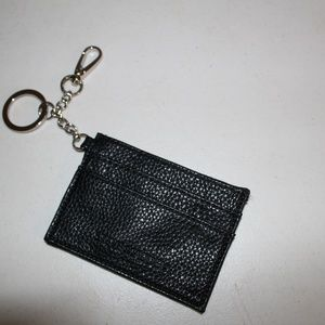 STEVE MADDEN BLACK WALLET KEY RING SMALL PURSE BAG
